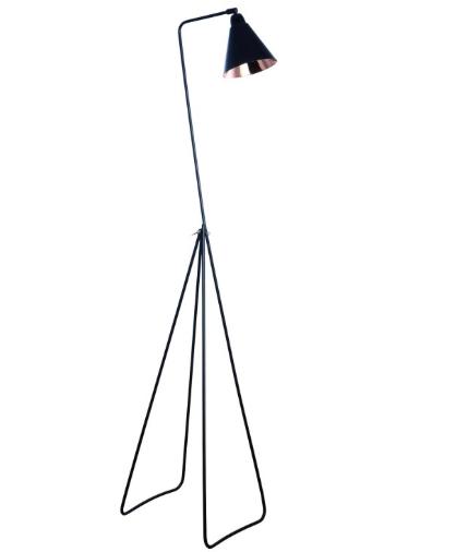Golvlampa i svart och koppar , 3235 kr, rum21.se