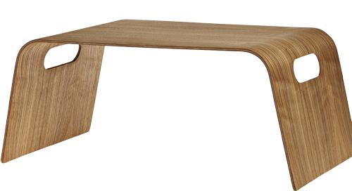 Sängbricka av böjträ, längd 56 cm, bredd 31 cm, höjd 22 cm, 379 kr, Åhlns.