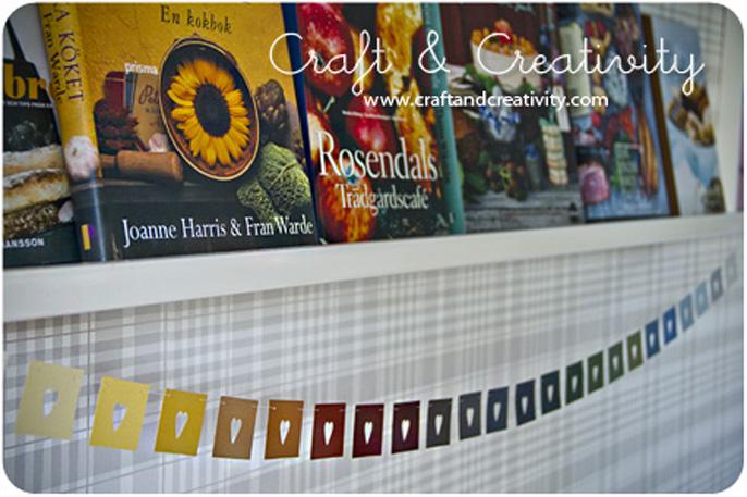 Underbara hjärtan i regnbågens alla färger. Foto: Helena Schaeder Söderberg/craftandcreativity.com