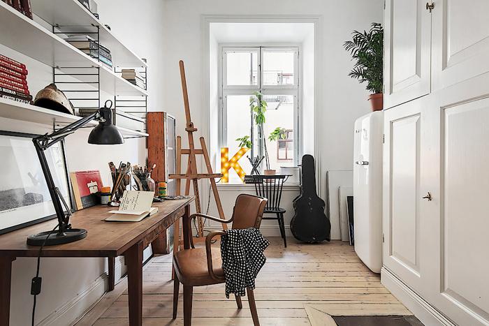 En egen ateljé att vara kreativ i! Foto: Skandiamäklarna