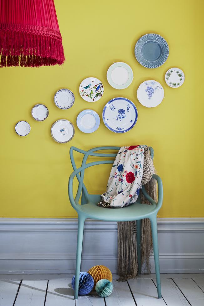 Fin detalj på väggen, enkelt att ändra efter både humör och årstid.