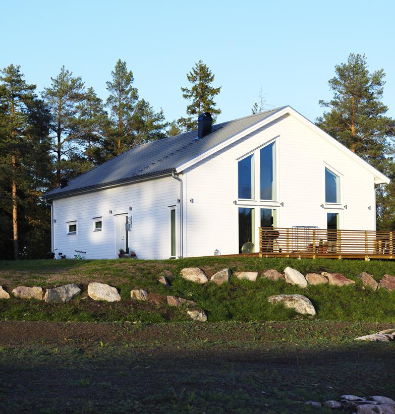 Här har familjen Swärd byggt sitt eget hus.