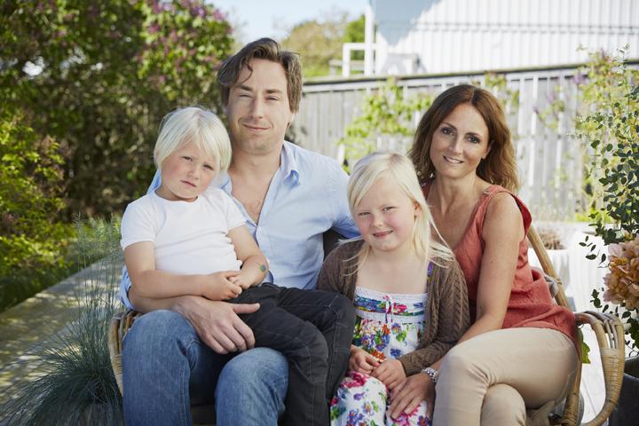 Familjen Islander-Rydbo med Vilgot, Andreas, Leia och Sofia.
