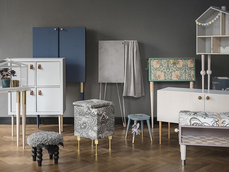 Design från fina butiken? Nej, vanliga Ikeamöbler som har fått ny kostym!