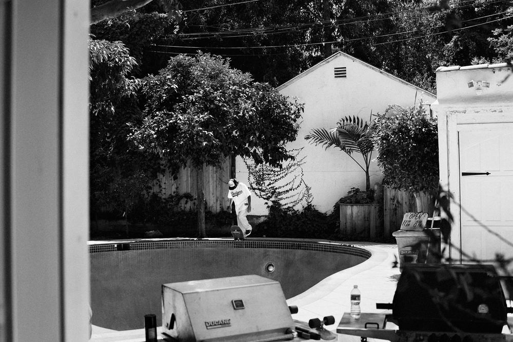 Tony Alva at Arto Saari's pool, Los Angeles, 2012