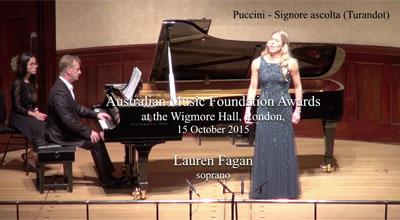 Lauren Fagan (soprano) - Puccini - Signore ascolta