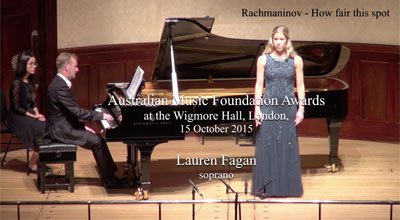 Lauren  Fagan (soprano) -  Rachmaninov  - How fair this spot