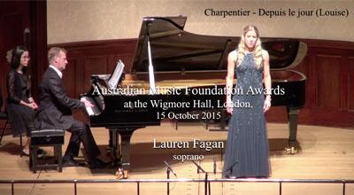 Lauren Fagan (soprano) - Charpentier- Depuis le jour