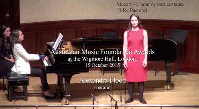 Alexandra Flood (soprano) -  Mozart  - L'amerò, sarò costante
