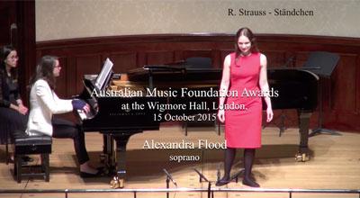 Alexandra Flood (soprano) -  R. Strauss  - Ständchen