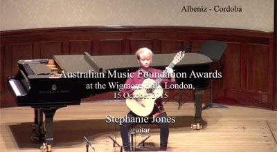 Stephanie Jones (guitar) - Albeniz - Cordoba