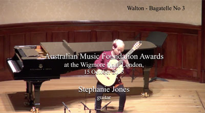 Stephanie Jones (guitar) - Walton - Bagatelle No. 3