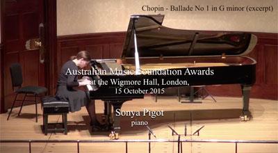 Sonya Pigot (piano) - Chopin - Ballade No.1 in G minor (excerpt)