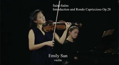 Emily Sun (violin) - Saint-Saens - Introduction and Rondo Capriccioso Op. 28