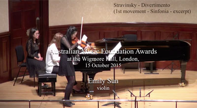 Emily Sun (violin) - Stravinsky - Divertimento (First movement - Sinfonia - excerpt)