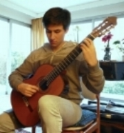 Jesse Flowers with his new instrument from luthier Antonius Müller.