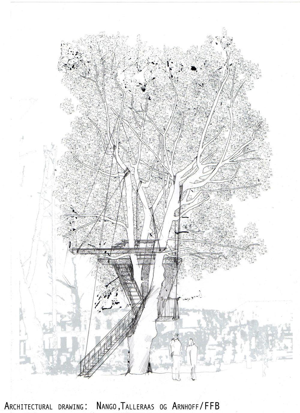 Architectural drawing: Nago, Talleraas og Arnhoff/ FFB