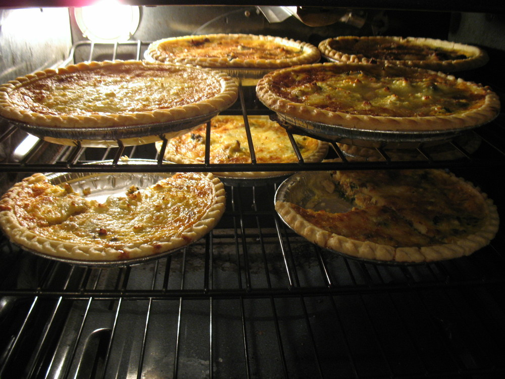"When our friend ""The Egg Man"" gave us eggs from his chickens Jill cooked up a storm, it was a quiche frenzy!"