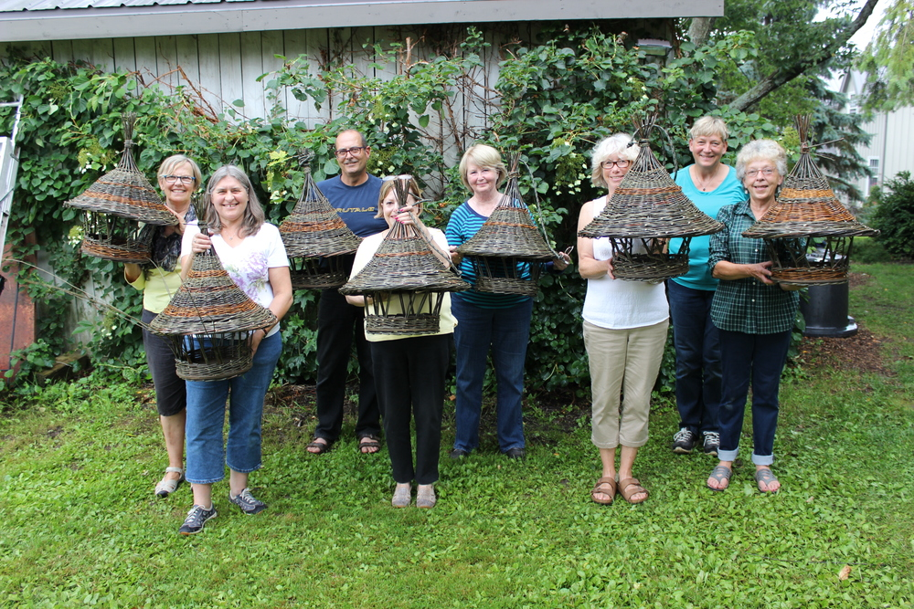 After two days, the first group of happy bird feeder students.