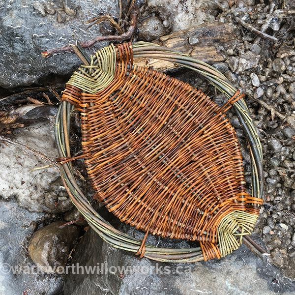 Willow Fruit Bowl - a great introduction to basketry class on June 3
