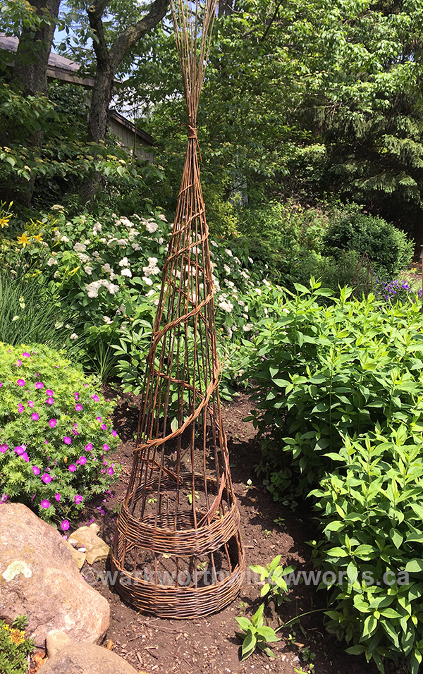 Large Garden Obelisk - a 6-7ft tall garden support, one day workshop on May 19