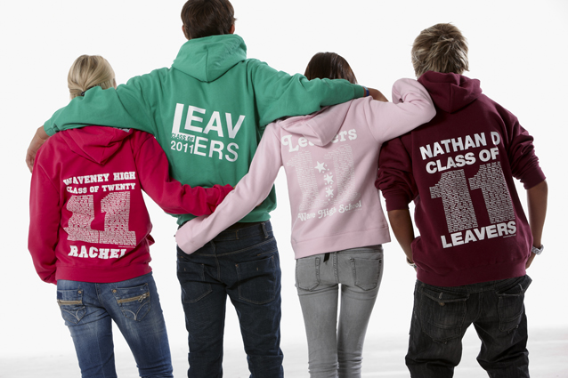 Custom leavers hoodie designs