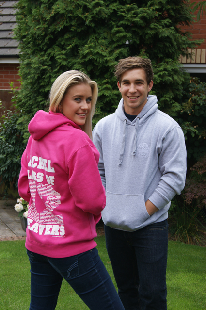 Standard Leavers Hoodies with print and embroidery