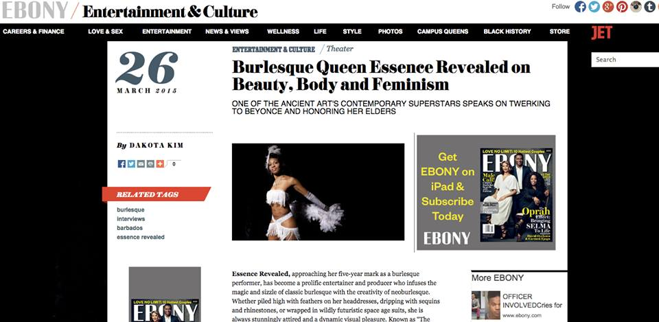 Ebony.com Burlesque Queen Essence Revealed on Beauty, Body & Feminism