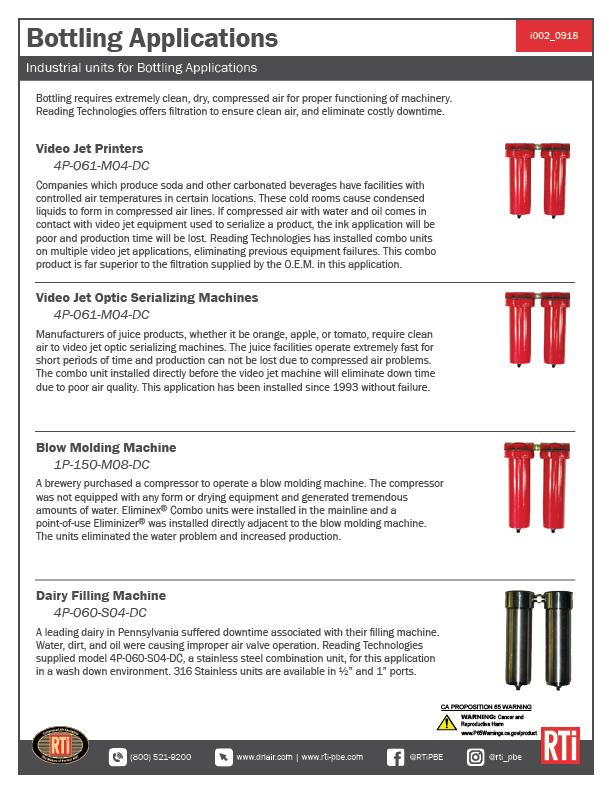 i002 Bottling Applications