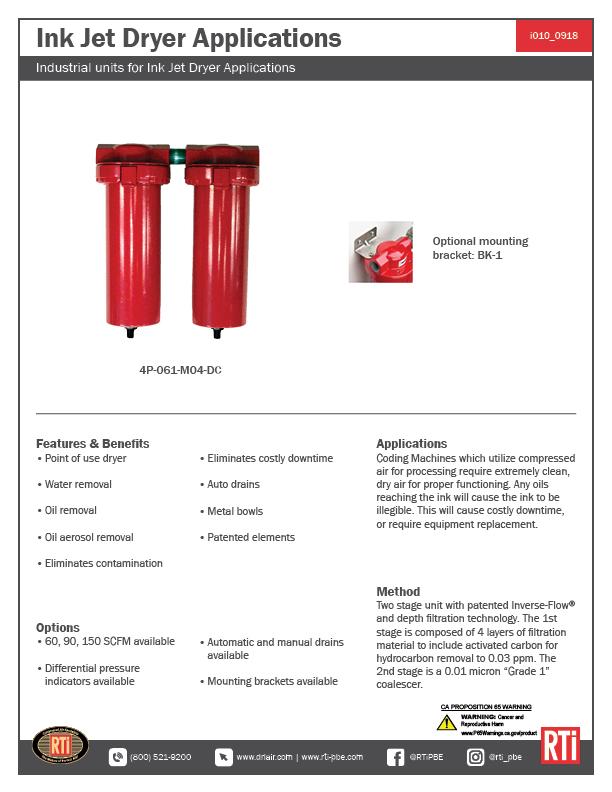 i010 Ink Jet Dryer Applications