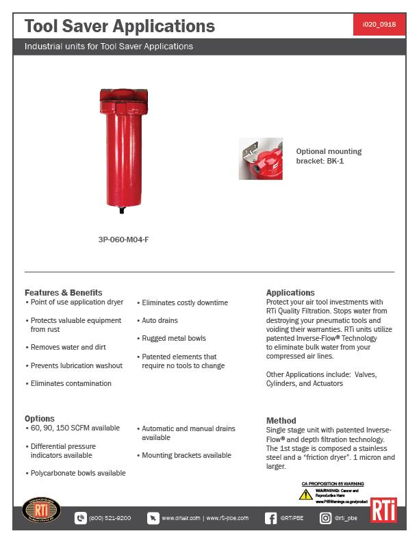 i020 Tool Saver Applications
