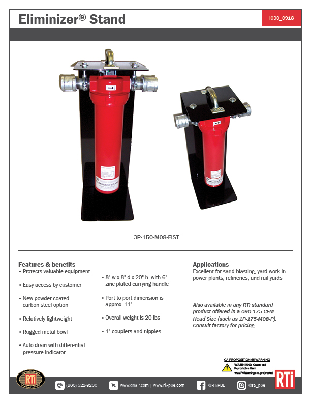 i030 Eliminizer Stand