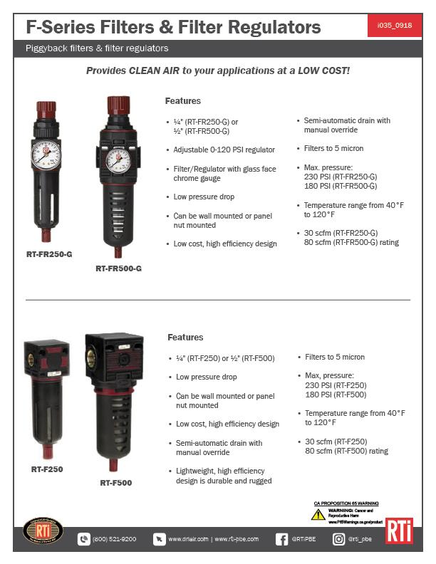 i035 F Series Filters