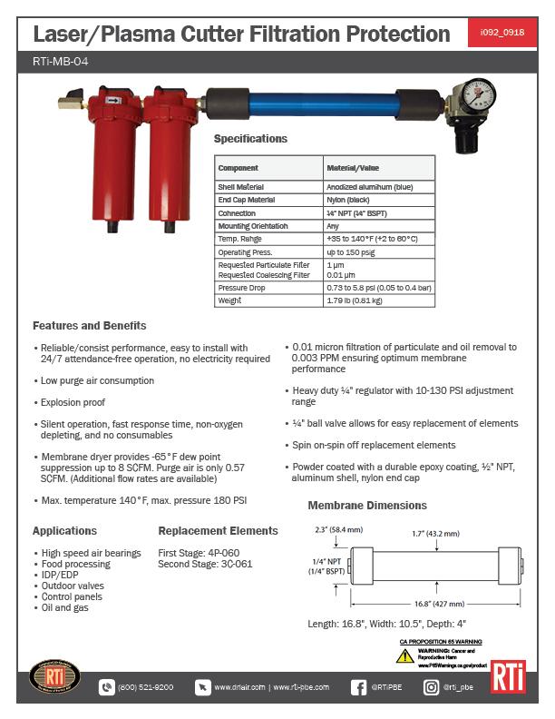 i092 Laser/Plasma Cutter Filtration