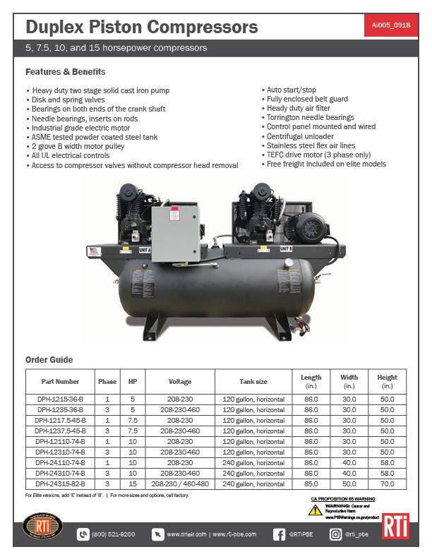 Ai005 Duplex Piston Compressors