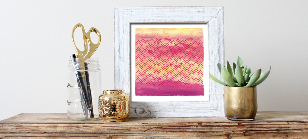 Village Sunset Art Print