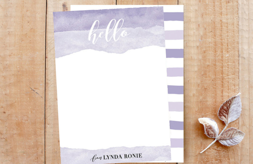 Splendid Hello Custom Stationery