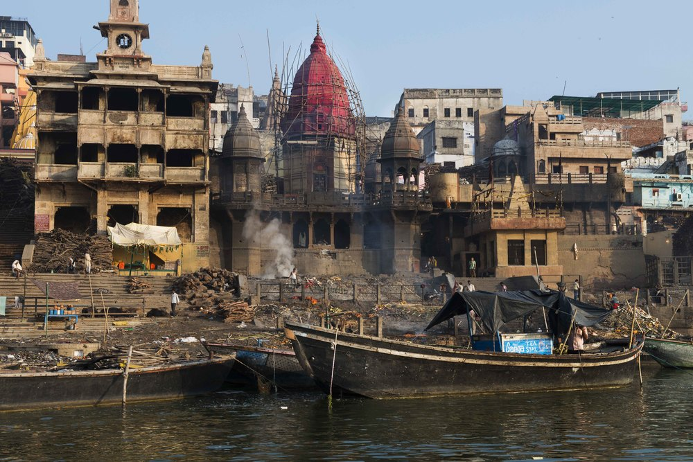 One of the burning ghats