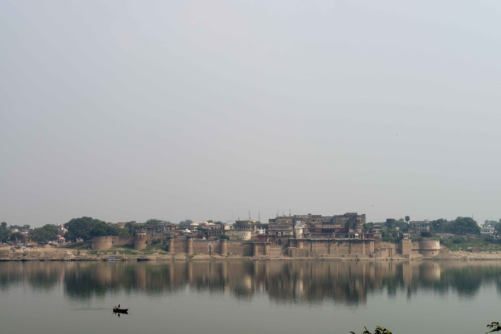 An old fort, other side of he ganges.