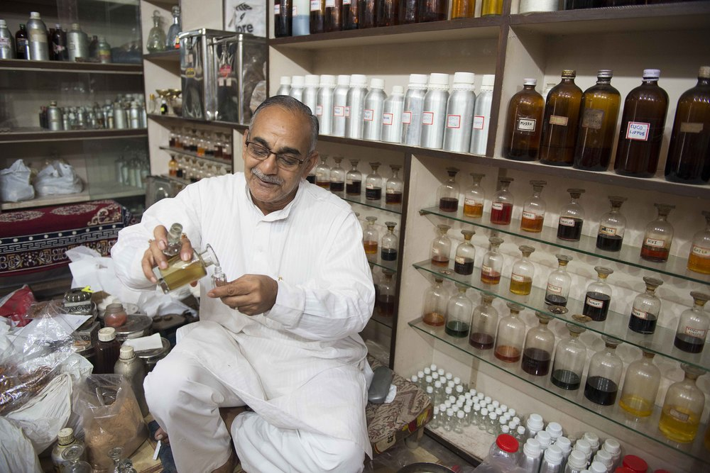 "This man is a natural healer, using Ayurvedic medicine, Ayurvedic is a system ofHindu traditional medicine using spices, herbs, tree leaves and bark, and oils. He is the fifth generation of his family to do this and is the equivalent here to the ""top"" doctor in NY."