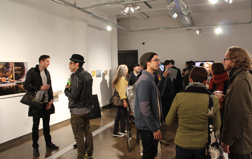 visitors @ the opening reception on February 28