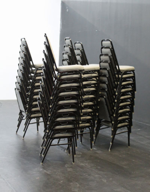 Chairs as towers @ The Kitchen