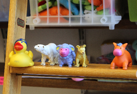Cute toys at the Infant Cognition Center @ Yale