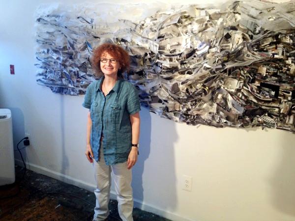Etty Yaniv in her Bushwick studio