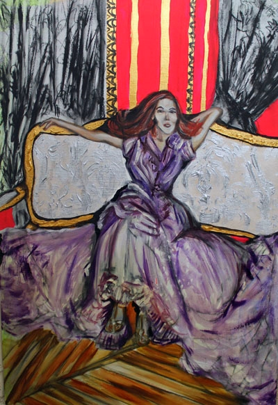 La Belle Époque, After YSL, oil & acrylic on canvas, 2007