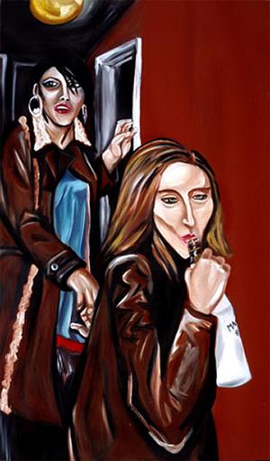 "Malibu, oil & acrylic on canvas, 36"" x 60"", 2006"
