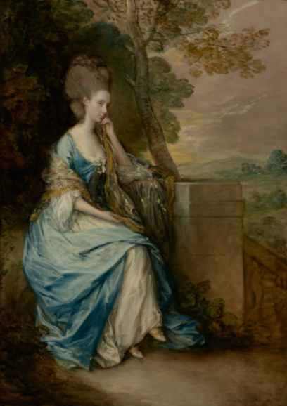 Portrait of Anne, Countess of Chesterfield, Thomas Gainsborough, oil on canvas, (1777-1778) image courtesy of getty.edu