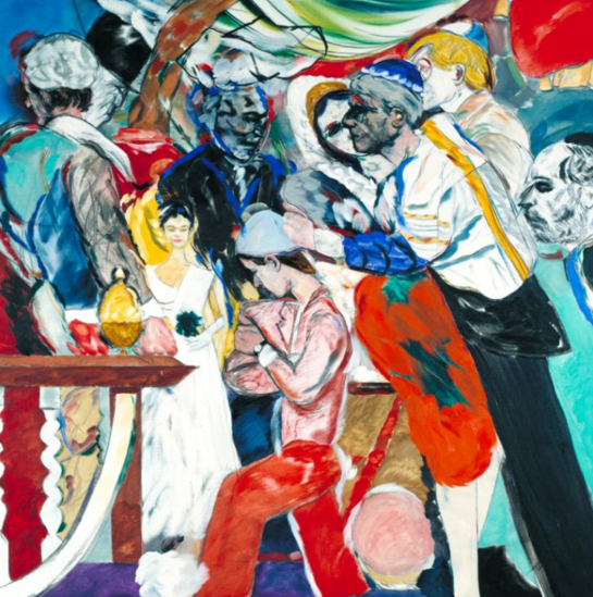"R.B. Kitaj, ""The Wedding,"" oil on canvas, 1989-1993 (©The Estate of R.B. Kitaj)"