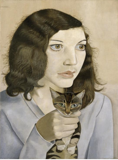 "Lucian Freud, ""Girl with Kitten,"" oil on canvas, 1947 (photo ©Lucian Freud Archive / Bridgeman images)"