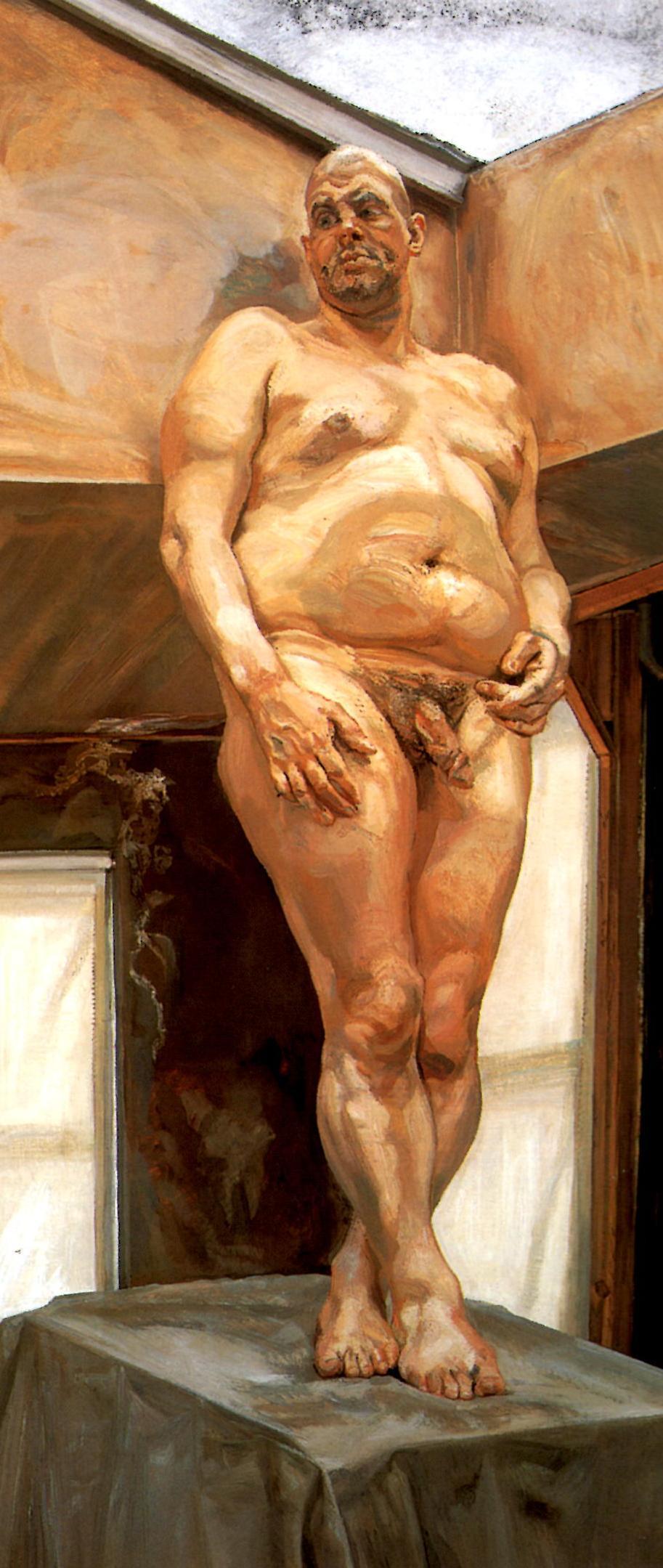 Leigh under skylight, oil on canvas, Lucian Freud, 1994